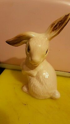 very rare 1302 sylvac pink rabbit
