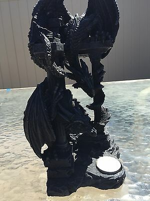2 Dragons On Top of Some Ruins Tea Light Candle Holder