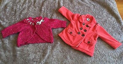 Bulk Lot x2 Baby Girl Clothes Coat Jacket Size 0 Pumpkin Patch Sprout
