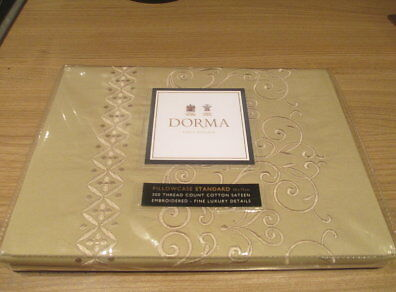NWT Dorma Giverny Natural Housewife Pillow Case 300 Thread Count