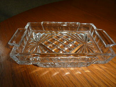 unbranded rectangle miniature glass tray with pattern