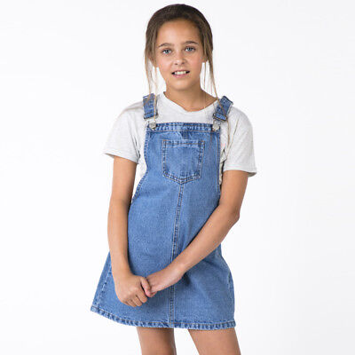Girls Annika Pinafore in Blue
