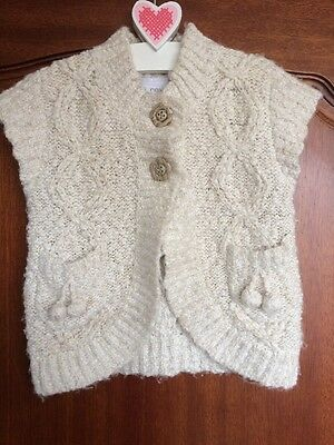 Girls Next Chunky Knit Gilet Aged 2-3 Years