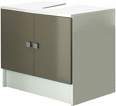 Symbiosis 6044A2191A17 Washbasin 2-Door Particle Board White / Taupe