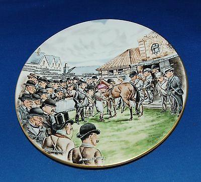 "A vintage ltd edition horse racing print porcelain plate ""The Paddock"", Grafton"