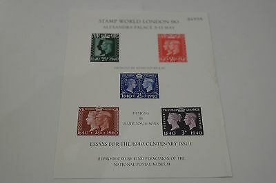 Stamp World London 90 Alexandra Palace 3-13 May Issue Sheet (Essays for 1940)