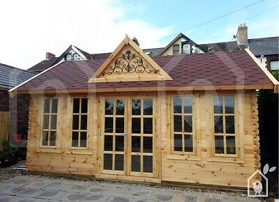 LOG CABIN CLOCKHOUSE 5.5m x 4m, LOCAL DELIVERY AND BUILD