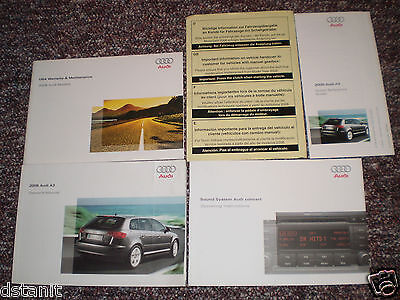 2008 Audi A3 Car Owners Manual Books Guide All Models