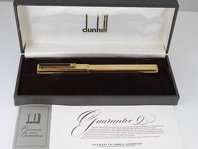 dunhill Dress Gold Plated Barley Black Clip Fountain Pen M