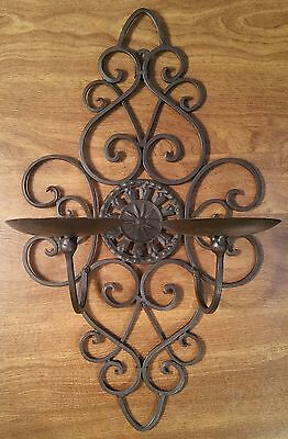 Gothic Victorian Metal Wall Sconce Candle Holder