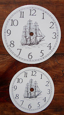 """LOT OF 5 Klock-It Round Aluminum Clock Dial Face TALL SHIP 6"""" and 4.5"""""""