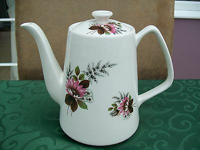 Lord Nelson Pottery Teapot - Flower Pattern - Dated 1972