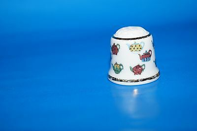 "Thimble collection club - barker trademark - "" teapot """