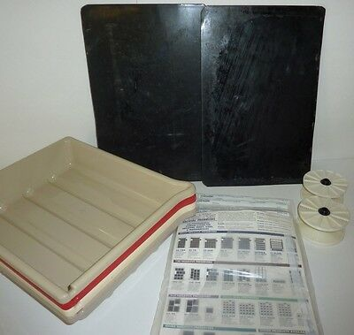 Lot Darkroom Photo Photographic Equipment Film Negatives Tray Print Files