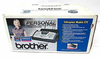 *NEW* BROTHER FAX-575 Personal Fax, Phone, Copier -Uses plain copy paper,