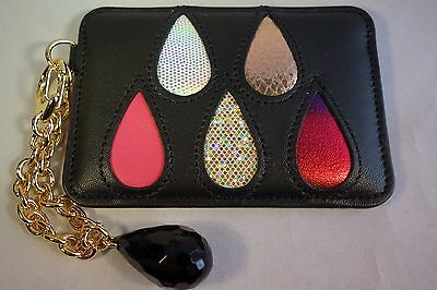 tsumori chisato CARRY ID pass card holder case Japan limited drops black leather