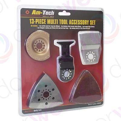 MULTI TOOL ACCESSORY SET 13 Piece Cutting Sanding Grinding Disc Blades Tools Kit