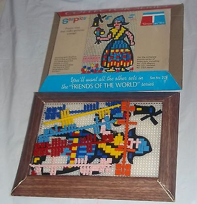 Vintage 1968 Tupperware Toys Snapics Collector Series Set #221 Friends Of World