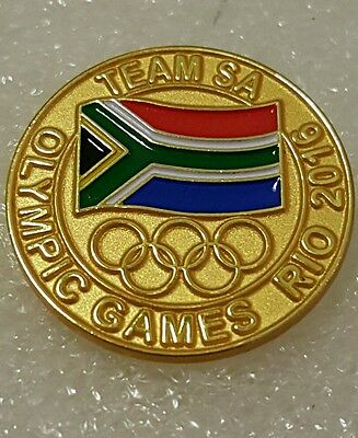 2016 Rio Brazil Olympic SA South Africa NOC Dated pin