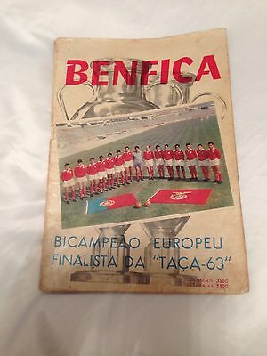 1963 European Cup Final Benfica v Milan at Wembley Benfica TACA 63 edition RARE