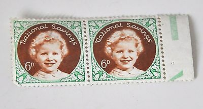 TWO NATIONAL SAVINGS STAMPS 6d PRINCESS ANNE
