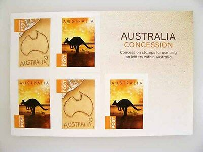 Australia Concession Stamps - Sheet of 5 stamps no denomination!!! Unused, mint