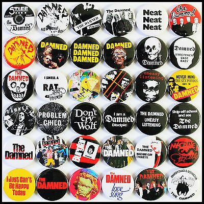The Damned 1976-1979 Badge Set - 36 Quality Pin / Button Badges (Punk)