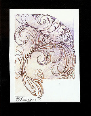 """Abstract Pencil Drawing """"Queen Anne's Lace"""" 6"""" x 4.5"""" Artist Signed Original 25"""