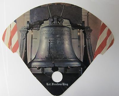 """Vintage LIBERTY BELL """"Jet Stream"""" stickless advertising fan, NH"""
