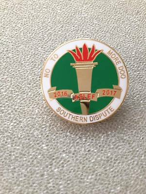 Aslef Southern Dispute No More Doo Railway Badge