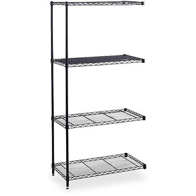 "Industrial Wire Shelving Add-On Unit - 48"" x 24"" x 72"" - 4 x Shelf(ves) -..."