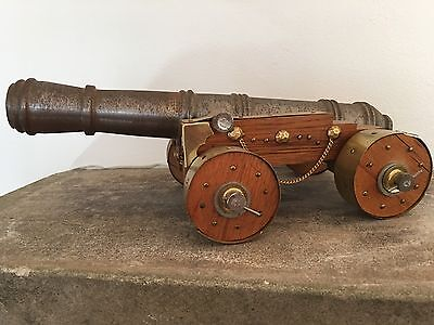 LARGE Machinist Black Powder Signal Cannon Naval Model Style