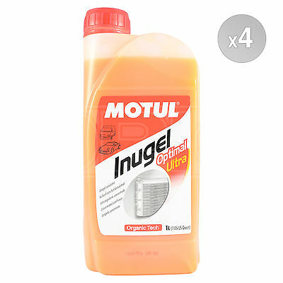 Motul Inugel Optimal Ultra Concentrated Anti Freeze 4 x 1 Litre 4L