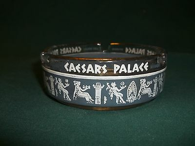 "VINTAGE ""CAESARS PALACE"" HOTEL LAS VEGAS GLASS  ASHTRAY 3.25"" Diameter"