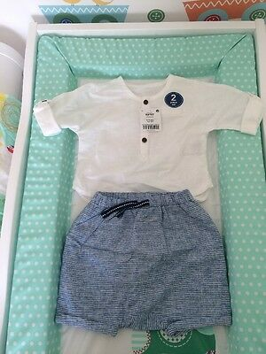 Next Baby Boy 2 Piece Outfit 3-6 Months