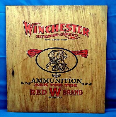 Winchester Repeating Arms Co. Wooden Ammunition Sign