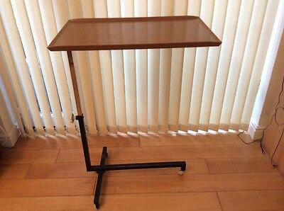 Over Bed or Chair Tilting Top Adjustable Formica Table - roll  fold laptop desk