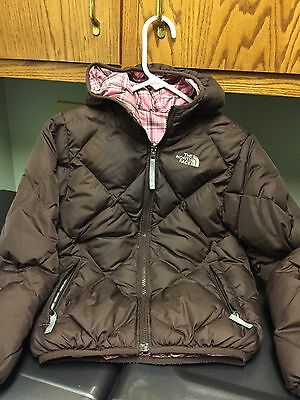 Youth Girls The North Face 550 down jacket brown size Medium M 10/12