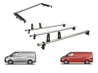Van Guard 3 Bars ULTI Bar Roof Rack and Rear Ladder Roller Ford Transit Custom