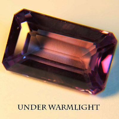 13.50ct.AWESOME RUSSIAN COLOR CHANGE ALEXANDRITE OCTAGON LOOSE GEMSTONE