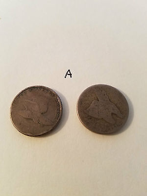 2 Flying Eagle Cents Lot Type Penny  -- A