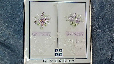 Givenchy Handkerchiefs Boxed Set of 2 /100 % cotton
