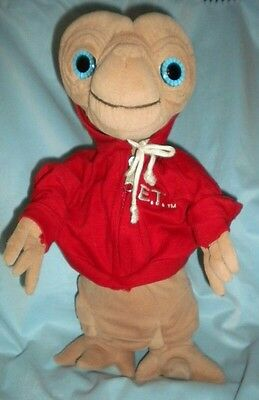 ET EXTRA-TERRESTRIAL PLUSH SOFT TOY 10 inches with ET Silver sewn in motif