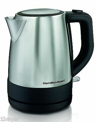 Hamilton Beach Cordless Home Kitchen Water Tea Stainless Steel Electric Kettle