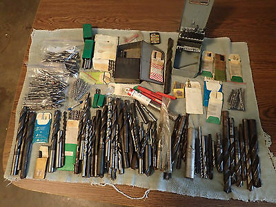 500 Piece Bulk Lot of HSS & Carbide Straight Shank Drill Bits + 2 Indexes, Used