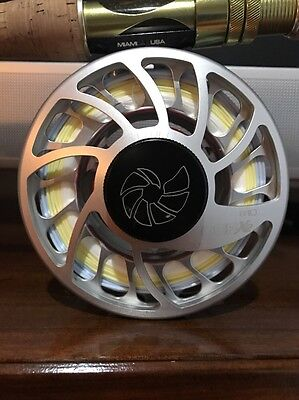 Nautilus CCF X2 10/12 Silver Fly Fishing Reel W/ Free Fly Line And Backing