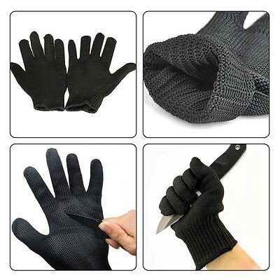 1 Pair Safe Protector Cut Metal Mesh Butcher Anti-cutting Breathable Work Gloves