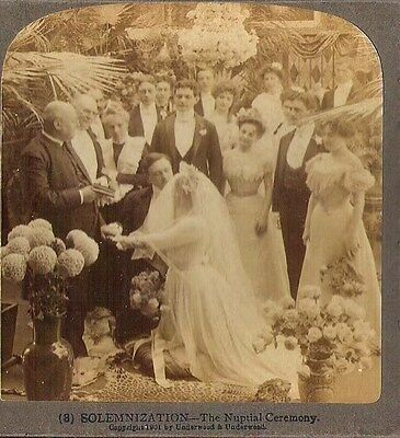 1901 The Nuptial Ceremony Stereoview Stereoscope Real Photo Card