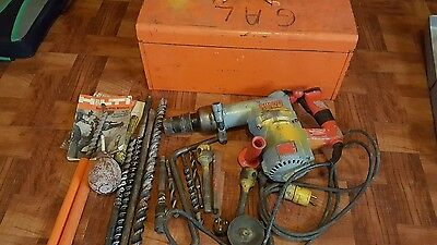 OLDER HILTI TE-60 ROTARY HAMMER DRILL  HAMMERDRILL with bits works
