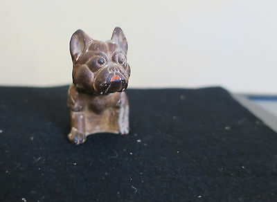 Antique Sitting  Bull Dog Lead Paperweight 3 inches